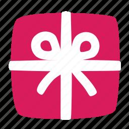 celebrate, gift, holiday, present, ribbon, secret, tape icon