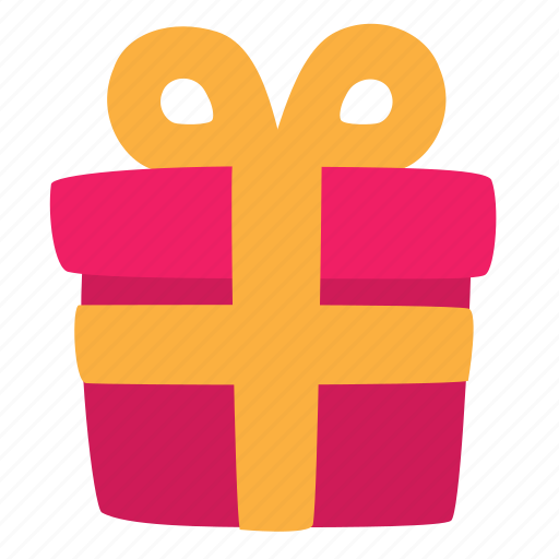 celebrate, gift, holiday, present, ribbon, secret, tape icon