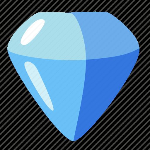 adamant, brilliant, diamond, jewel, sapphire, stone icon