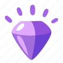 amethyst, diamond, jewel icon
