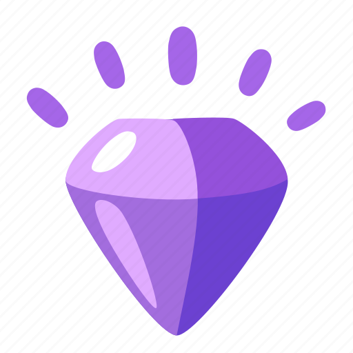 adamant, amethyst, brilliant, diamond, jewel, stone icon