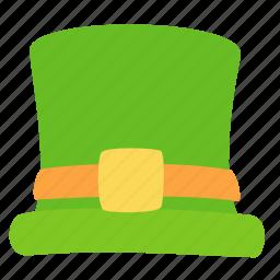 cylinder, hat, leprechaun, patrick, saint icon