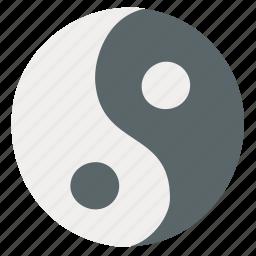 yang, yin, yin yang icon