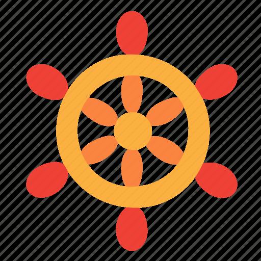 helm, steering, wheel icon