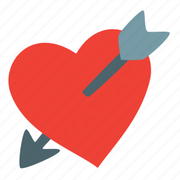 arrow, broken, cupid, day, heart, love, valentine icon