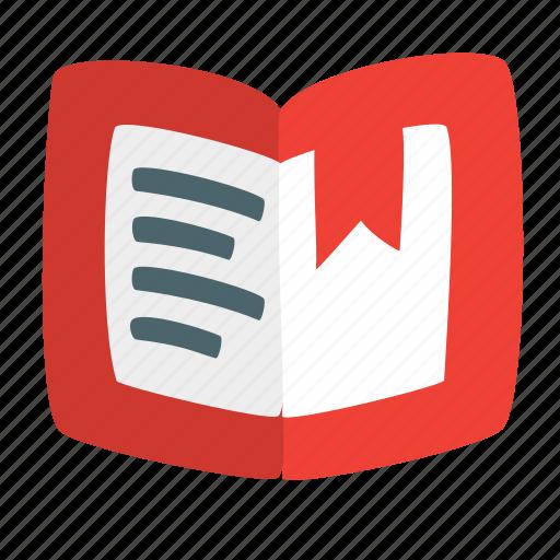 book, bookmark, copybook, cover, notebook, novel, tome icon