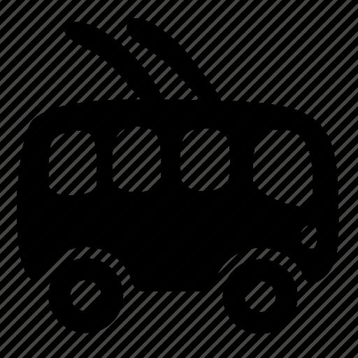 bus, car, passenger, public, trolley, vehicle icon