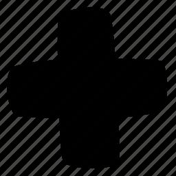 add, advantage, cross, plus, positive icon