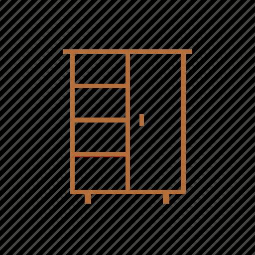 Closet, cabinet, drawer, wardrobe, interior, furniture icon - Download on Iconfinder