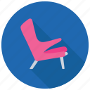 chair, furniture, luxury furniture, reclining chair, seat icon