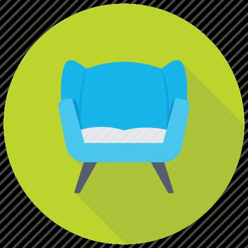 couch, furniture, settee, single sofa seat, sofa icon