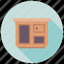 bureau, nightstand, shabby bureau, sideboard, sideboard buffet icon