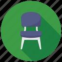 armless chair, chair, desk chair, furniture, modern dining chair icon