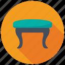 bedroom furniture, comfy seat, makeup vanity stool, stool table, vanity stool icon