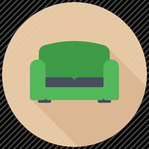 comfortable home furniture, couch, furniture, single seater sofa, sofa icon