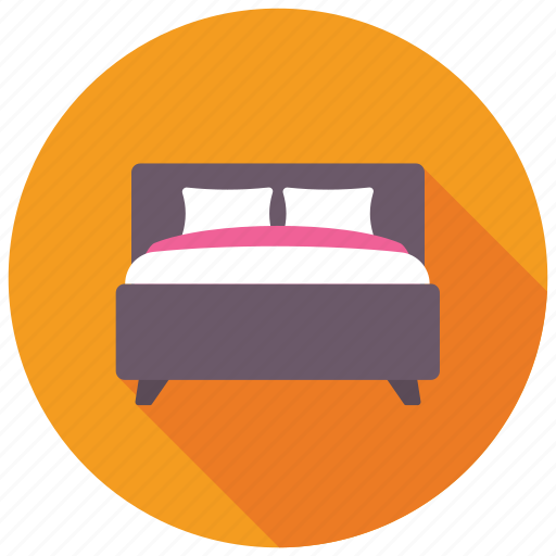 bed, bedroom, double bed, furniture, king size bed icon