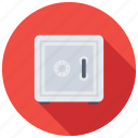 bank safe, bank vault, cash box, locker, safe box icon