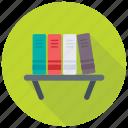 book rack, bookshelf, hanging bookshelf, library, study room icon