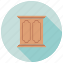 storage cabinet, storage furniture, table cabinet, wooden cupboard icon
