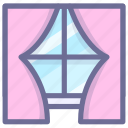 furniture, home, house, window icon