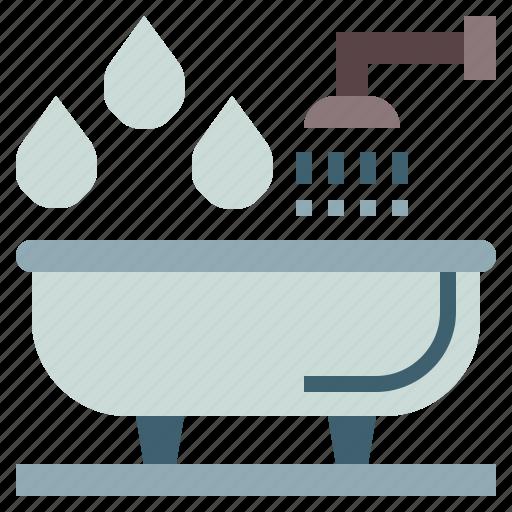 bath, bathroom, bathtub, clean, hygiene, hygienic, washing icon