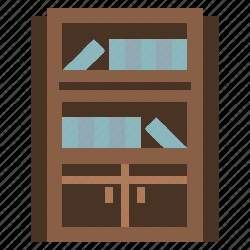 book, bookcase, bookshelf, furniture, library, storage icon