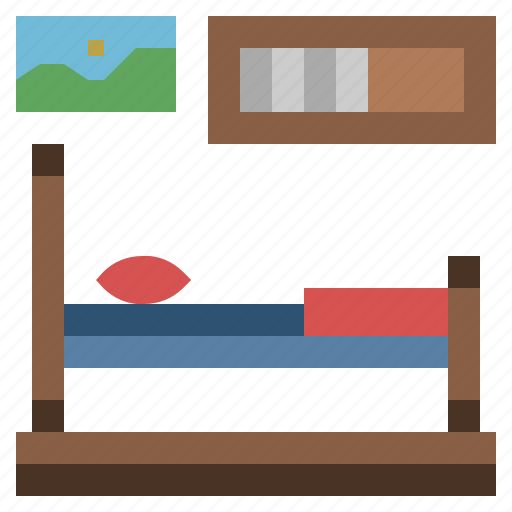 bed, hostel, hotel, sleeping, sleepy icon