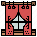 blinds, curtains, decoration, livingroom, tools, window icon