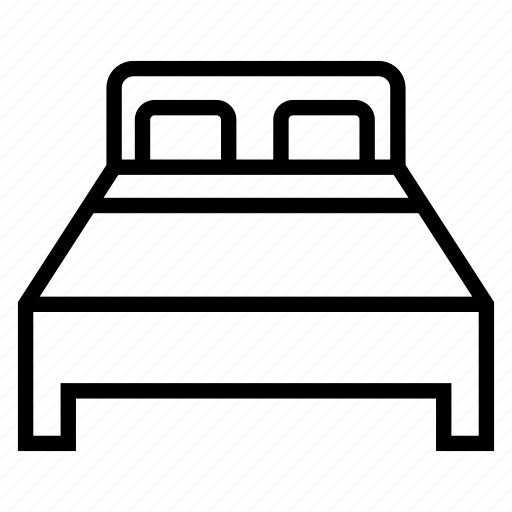 bed, double, furniture, hotel, sleep icon