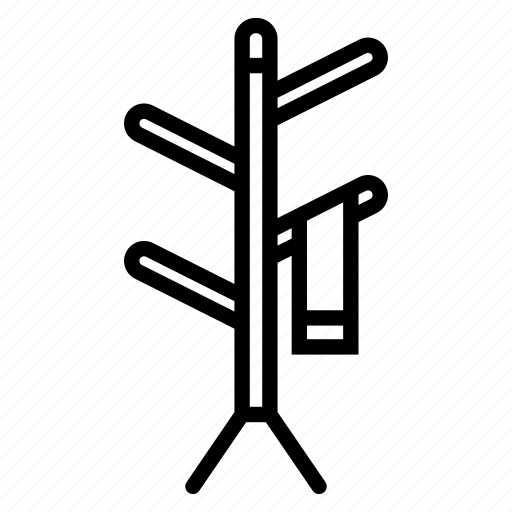 cloth, floor, furniture, hanger, stand icon