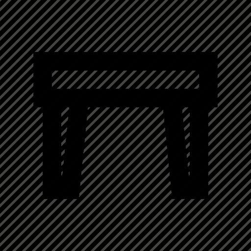 furniture, iron desk, iron stand, iron table, table icon