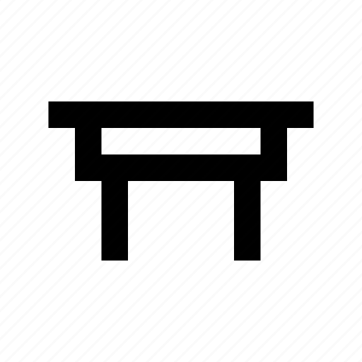 furniture, iron desk, iron stand, iron table, table icon