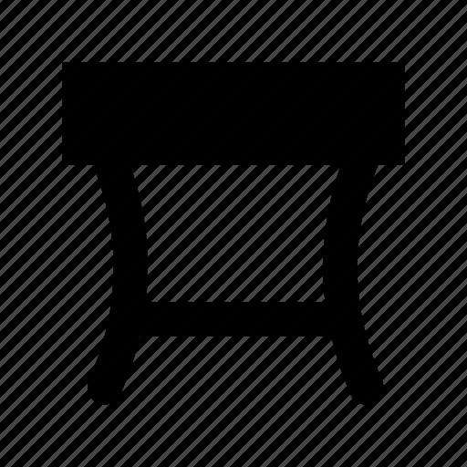 iron desk, iron table, table icon