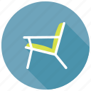 armchair, chair, furniture, garden chair, lounge chair icon