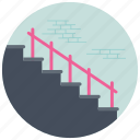 indoor stairs, interior stair railing, staircase, stairs, stairs railing icon