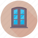 balcony, glass window, home window, living room, window icon