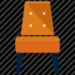 chair, diningroom, furnishings, furniture, interior icon