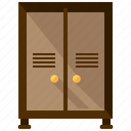 cabinet, closet, cupboard, furnishings, furniture, interior, storage icon