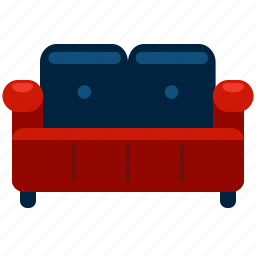 couch, furnishings, furniture, interior, sofa icon