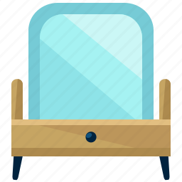 furnishings, furniture, interior, mirror, table icon