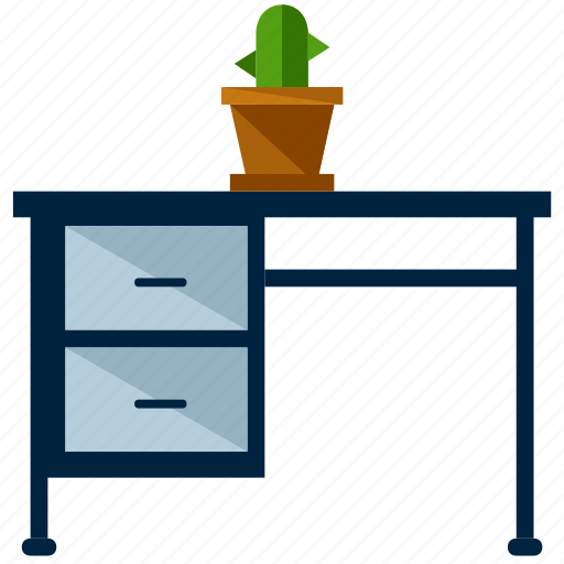 Cactus, desk, furniture, office, table, work icon - Download on Iconfinder