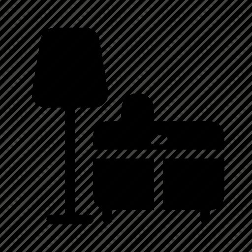 Building, desk, drawer, furniture, home, house, lamp icon - Download on Iconfinder