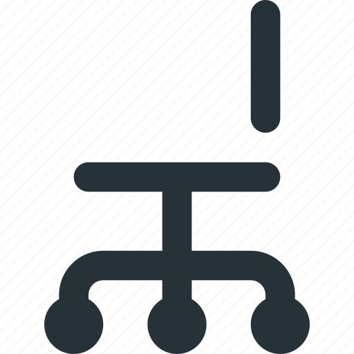 chair, desk, furniture, office, seat, work icon