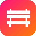 bench, furnishing, furniture, garden, rest, sitting icon