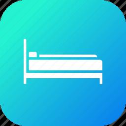 bed, bedroom, furnishing, furniture, household, sleep, sleeping icon