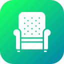 armchair, belongings, furnishings, furniture, households, sofa icon
