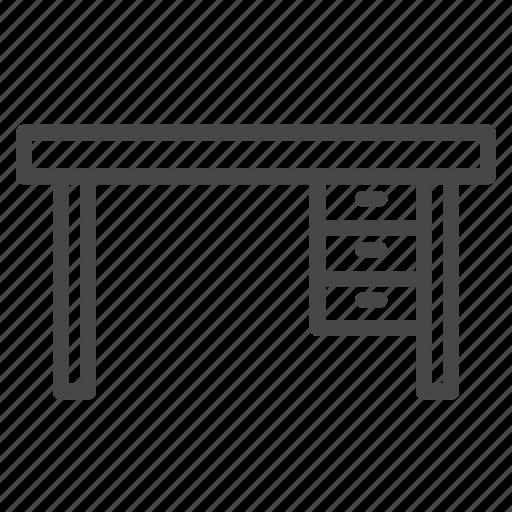 desk, furniture, interior, table, work station icon