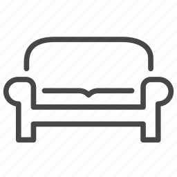 couch, furniture, households, interior, living room, seat, sofa icon