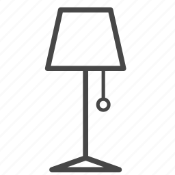 furniture, interior, lamp, lantern, light, living room icon
