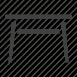 classic, decor, desk, furniture, home, interior, table icon